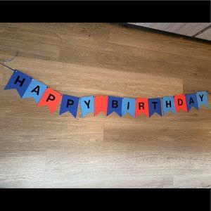 Handmade happy birthday banner